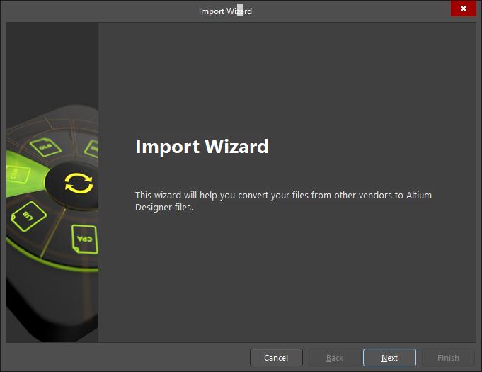 L'assistant d'importation d'Altium Designer, vous permettant d'accéder à la visionneuse pour fichiers PCB