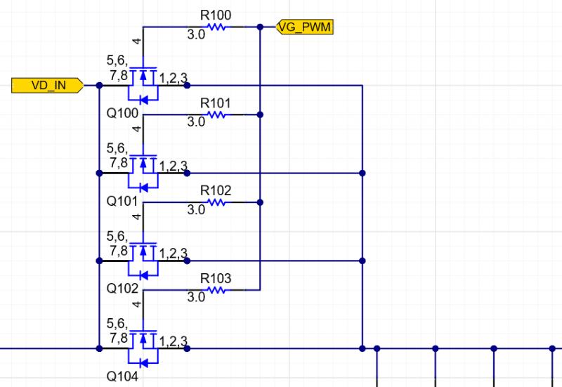PCB switching regulator schematic