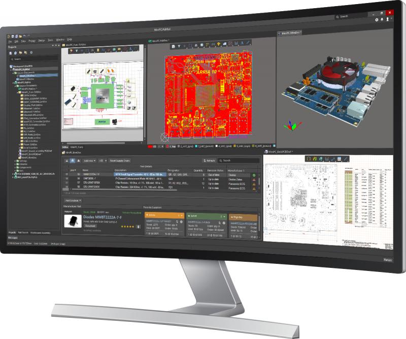Altium Designerの設計インターフェースのスクリーンショット