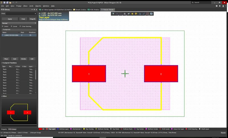 Realizza modelli di condensatori elettrolitici nei BGA per il tuo footprint di libreria PCB( Realizza modelli di condensatori elettrolitici nei BGA per il tuo footprint di libreria PCB
