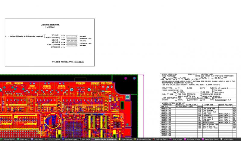 Flex and rigid PCB regions in a layer stack in Altium Designer