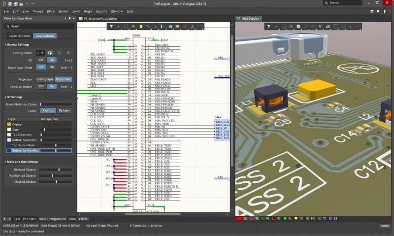 Potentes editores de esquemas y 3D son solo algunas de las ventajas de Altium Designer, un software para resolver circuitos eléctricos online