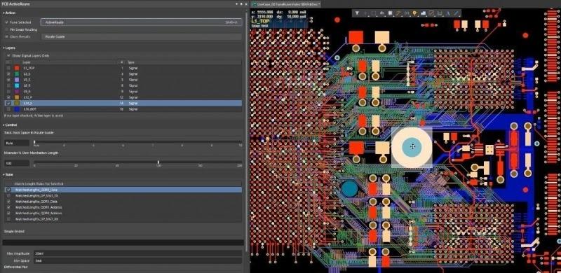 Active Route du logiciel de conception électronique Altium Designer.