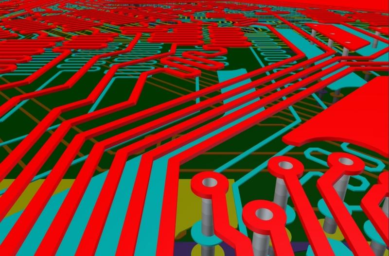 Enrutamiento sintonizado de AD18 en el software de diseño de PCB de RF para frecuencia, componentes y voltaje.