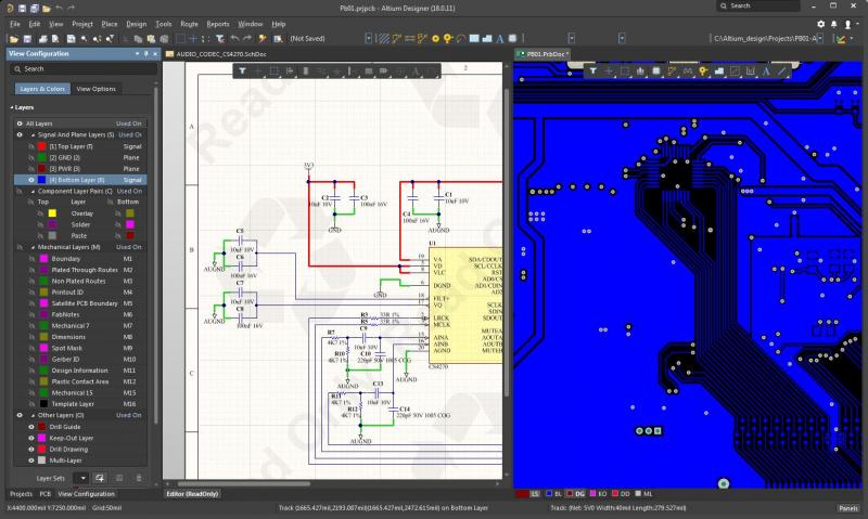 Screenshot of Altium Designer's unified environment