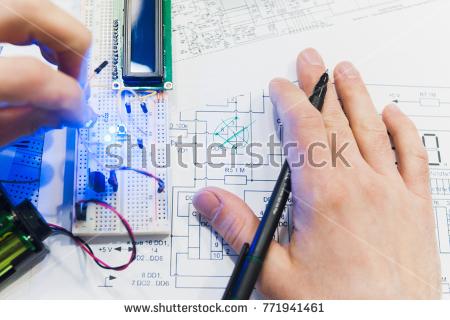 Prototyp-Platine und Schaltplan