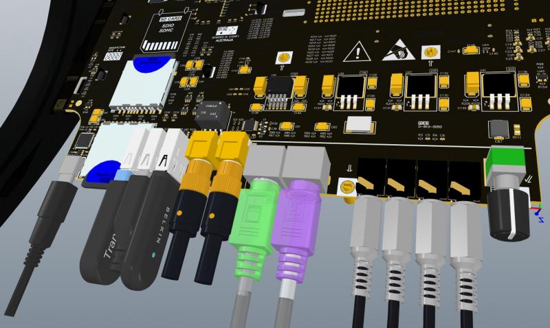 Verwendung von Leiterplattensteckverbindern mit externen Kabelmodellen in Altium