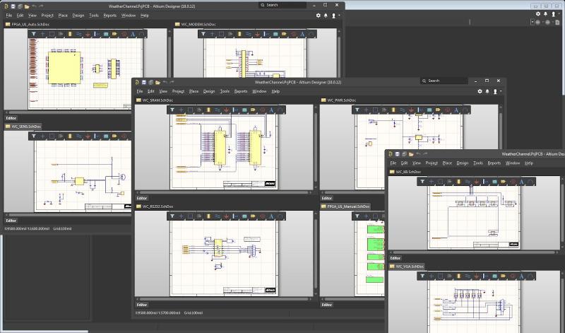 Screenshot of schematics in Altium Designer