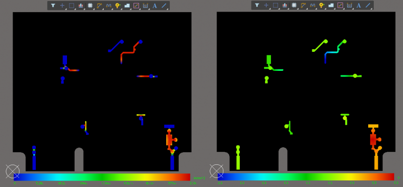 Screenshot of the output from the PDN Analyzer in Altium Designer