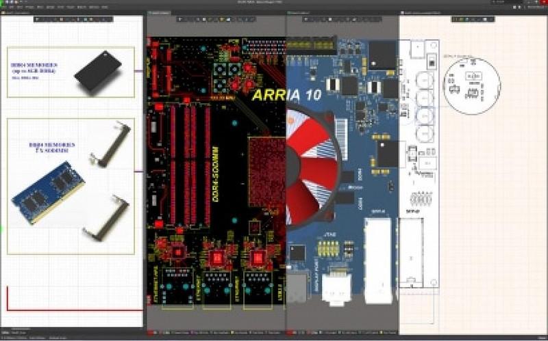 Altium Designerの統合設計環境のスクリーンショット