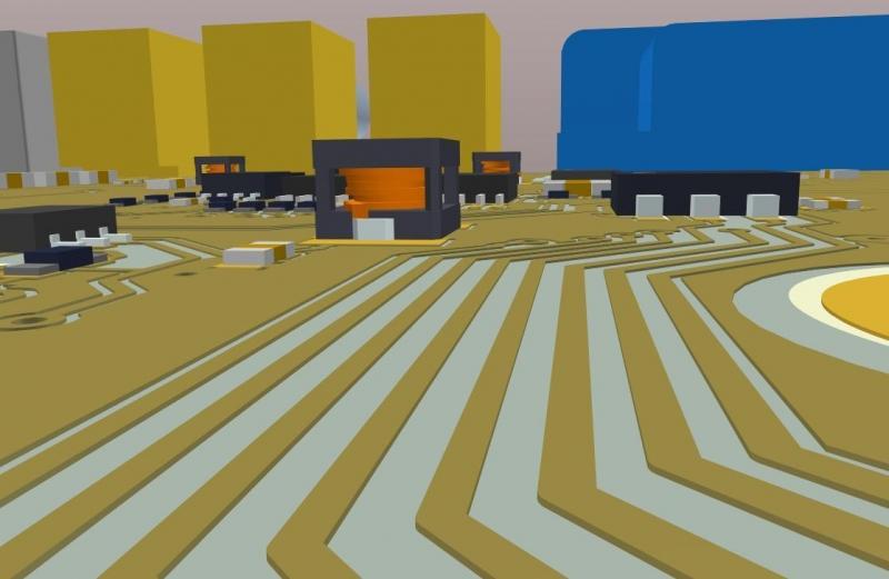 Screenshot von AD18 3D-Layout in den PCB Design Services