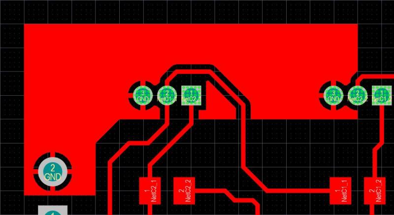 Altium Designer polygon pour short circuit