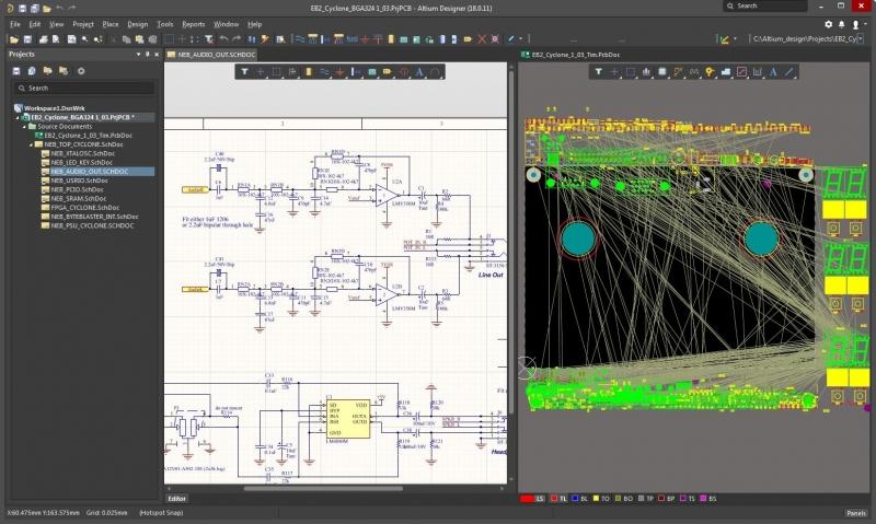 Altium Designer's cross select features