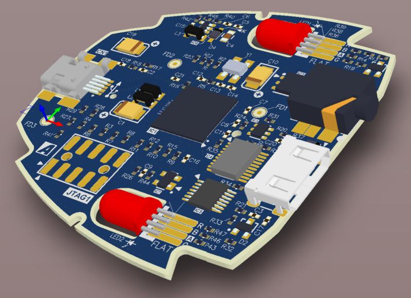 Visualización del diseño de un circuito electrónico en 3D en Altium Designer
