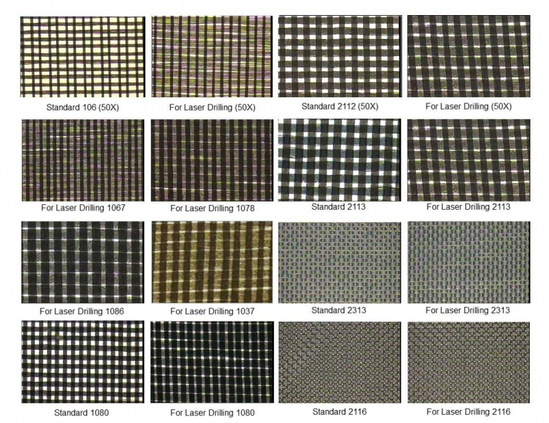 Fiberglass-impregnated resin base material laminates for PCB stackup design