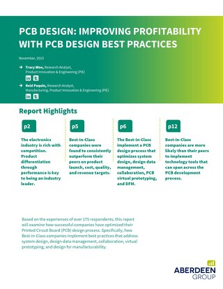 PCB Design: Improving Profitability with PCB Design Best Practices