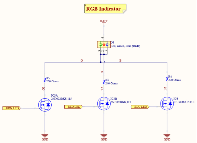 RGB LED Indicator schematic