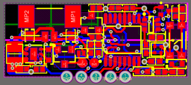 Fully routed project PCB layout in Altium Designer