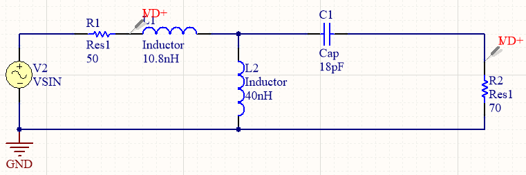 T-network impedance matching network design