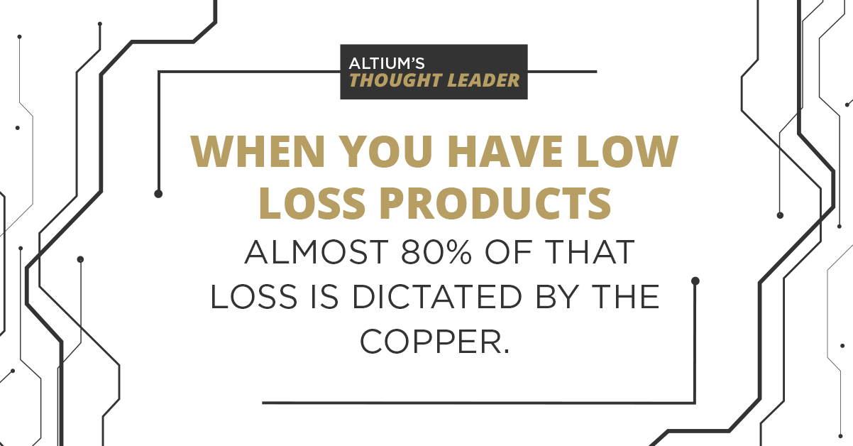 low loss products dictated by the copper