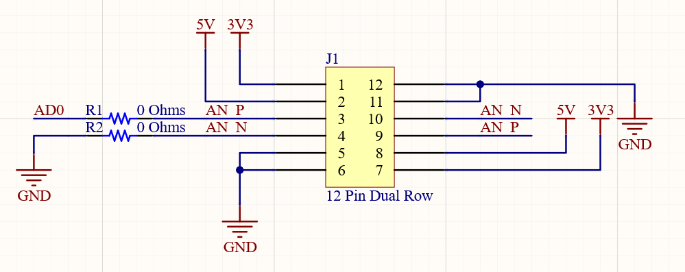 Cardedge Schematic with 12 pin header