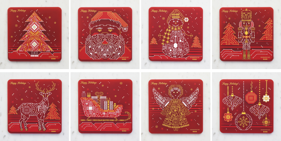 2020 Holiday Gift Ideas PCB coasters
