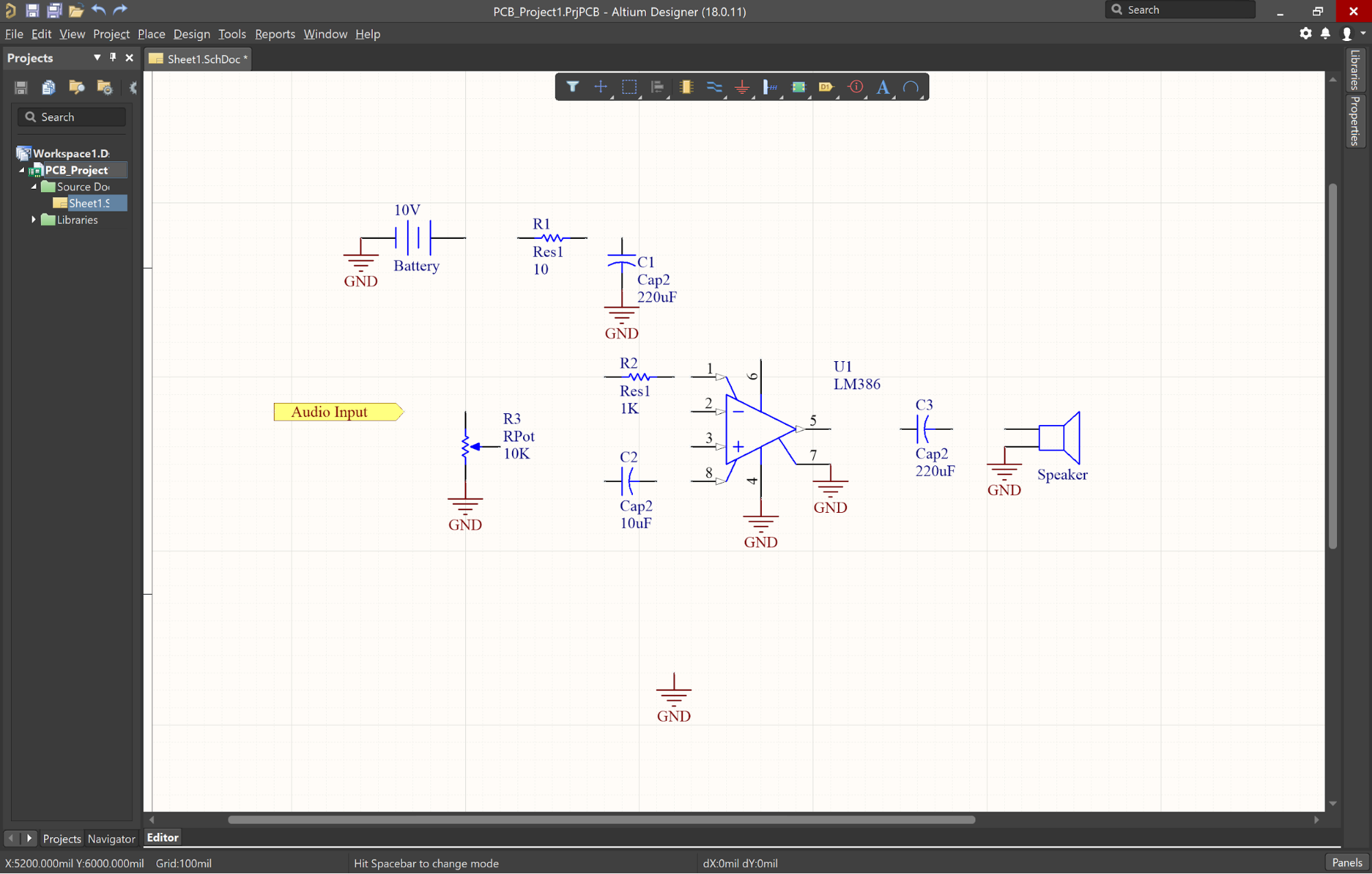 Altium Designer ground connections