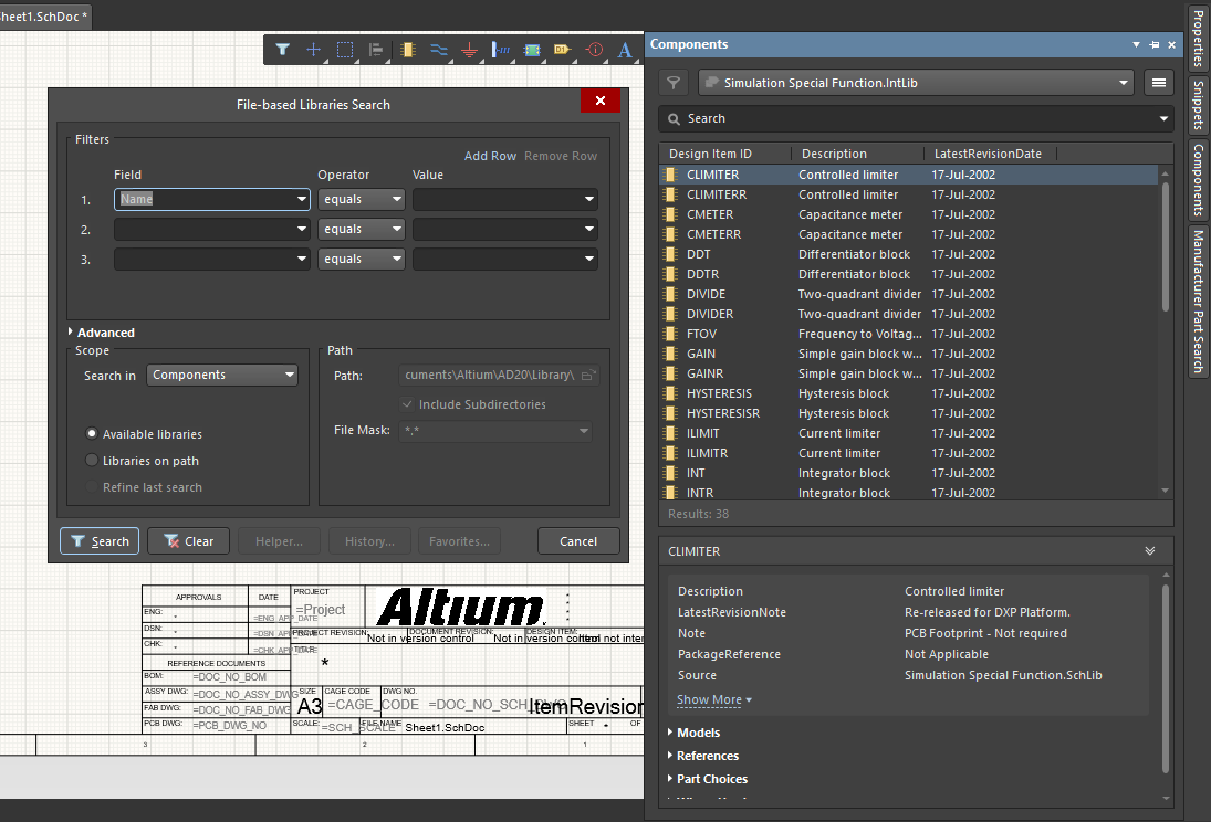 Altium Designer schematic tutorial component selection