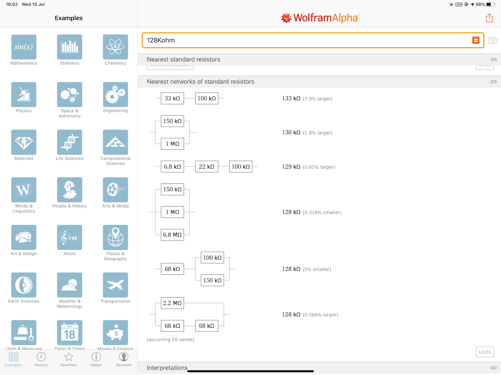 Wolfram Alpha computing