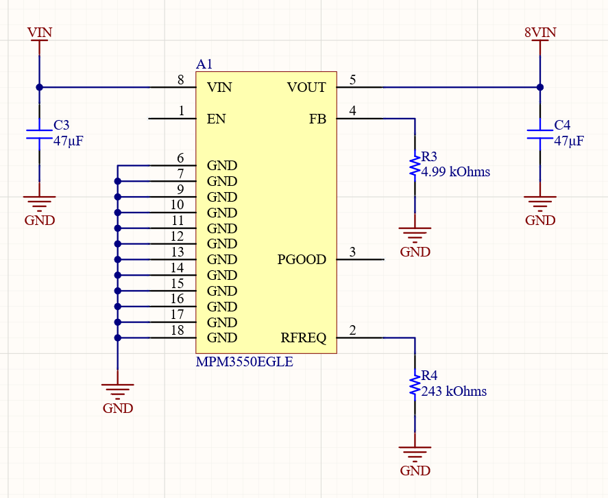 regulator for this design is very simple