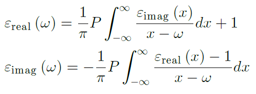 Kramers-Kronig equations and copper foil roughness