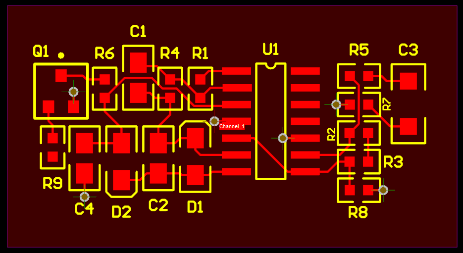 Channel 1 Board Layout in PCB design software tool