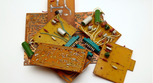 A pile of old PCBs.