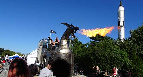 Makerfaire Dragon float