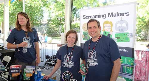 Screaming Circuits at Makerfaire