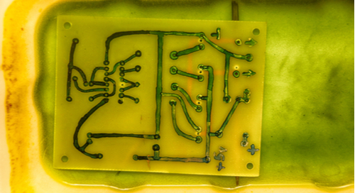 PCB etching in ferric chloride