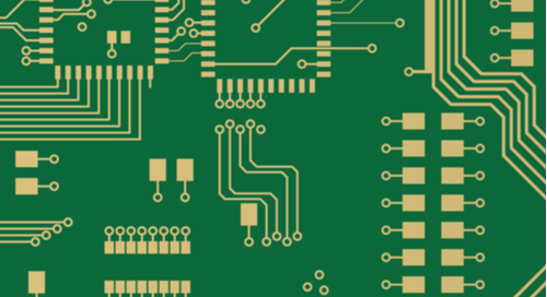 Vector image of PCB layout.