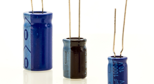 Three capacitors of different sizes