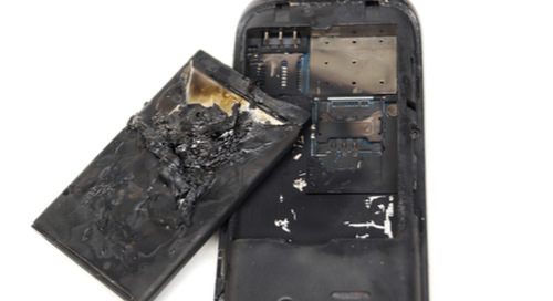 phone that's been badly burned