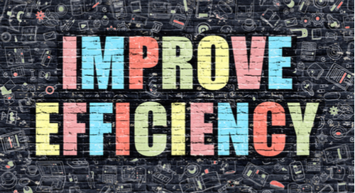 "Graphic saying ""Improve Efficiency"""