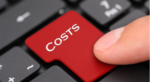 Button on a keyboard saying costs