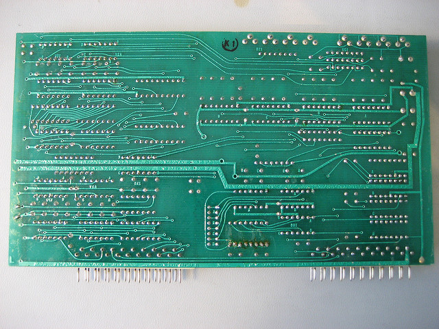 PCB wave soldering example
