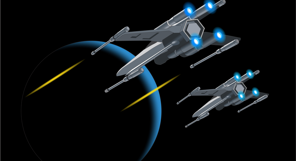 Image of Star Wars X-wing fighters