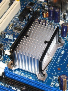 Heat sink example of how different fin structures create more or less surface area