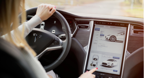Tesla Model S interior touchscreen