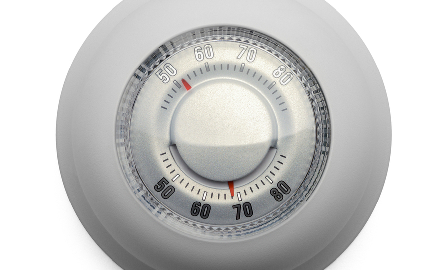 Round dial thermostat