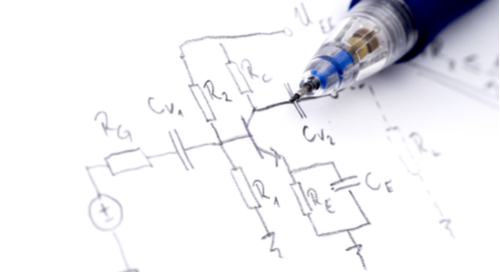 Picture of a hand drawn schematic