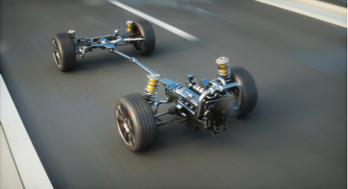 Chassis of a car