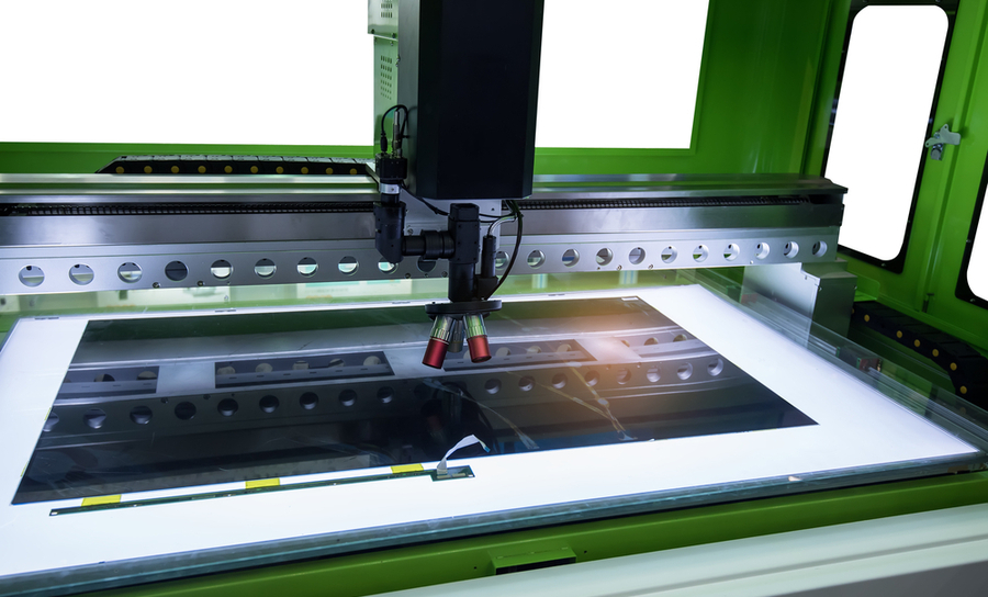 Laser cutting tool for electronics manufacturing