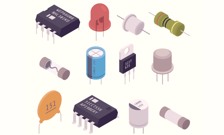 Picture of different diode symbols and shapes